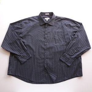 Pronto Uomo Mens Striped Shirt Size 3XL